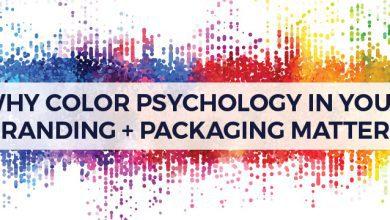 تصویر روانشناسی رنگ در برند سازی شما + موارد بسته بندی