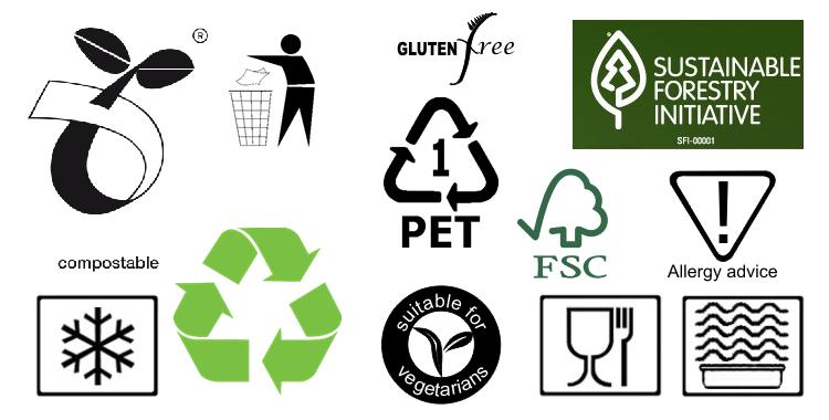 معنی نمادها در صنعت چاپ و بسته بندی
