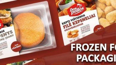 تصویر برچسب های بسته بندی مواد غذایی منجمد