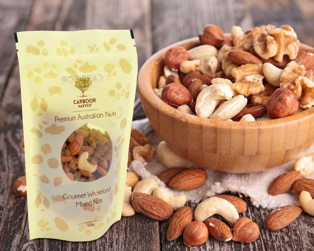 Premium Austran Nuts Packaging min - چاپ و بسته بندی خشکبار : بسته بندی BOPP
